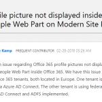 Profilbilder werden in SharePoint Online Webpart nicht angezeigt