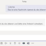 Text für Antwort zitieren in Microsoft Teams